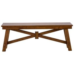 Wood Trestle Bench