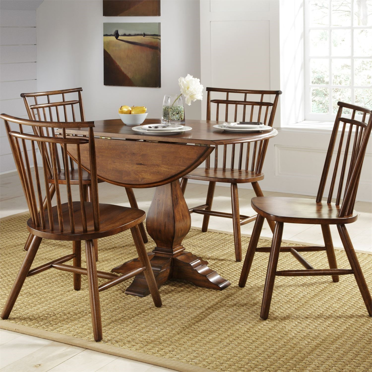 Creations II 5 Piece Dining Table and Chair Set by Libby at Walker's Furniture