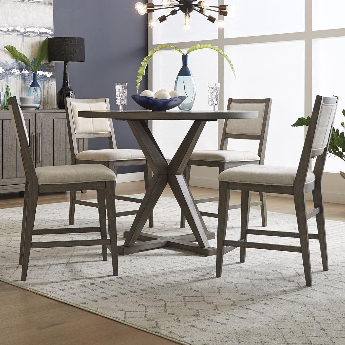 Crescent Creek 5-Piece Gathering Table Set by Libby at Walker's Furniture