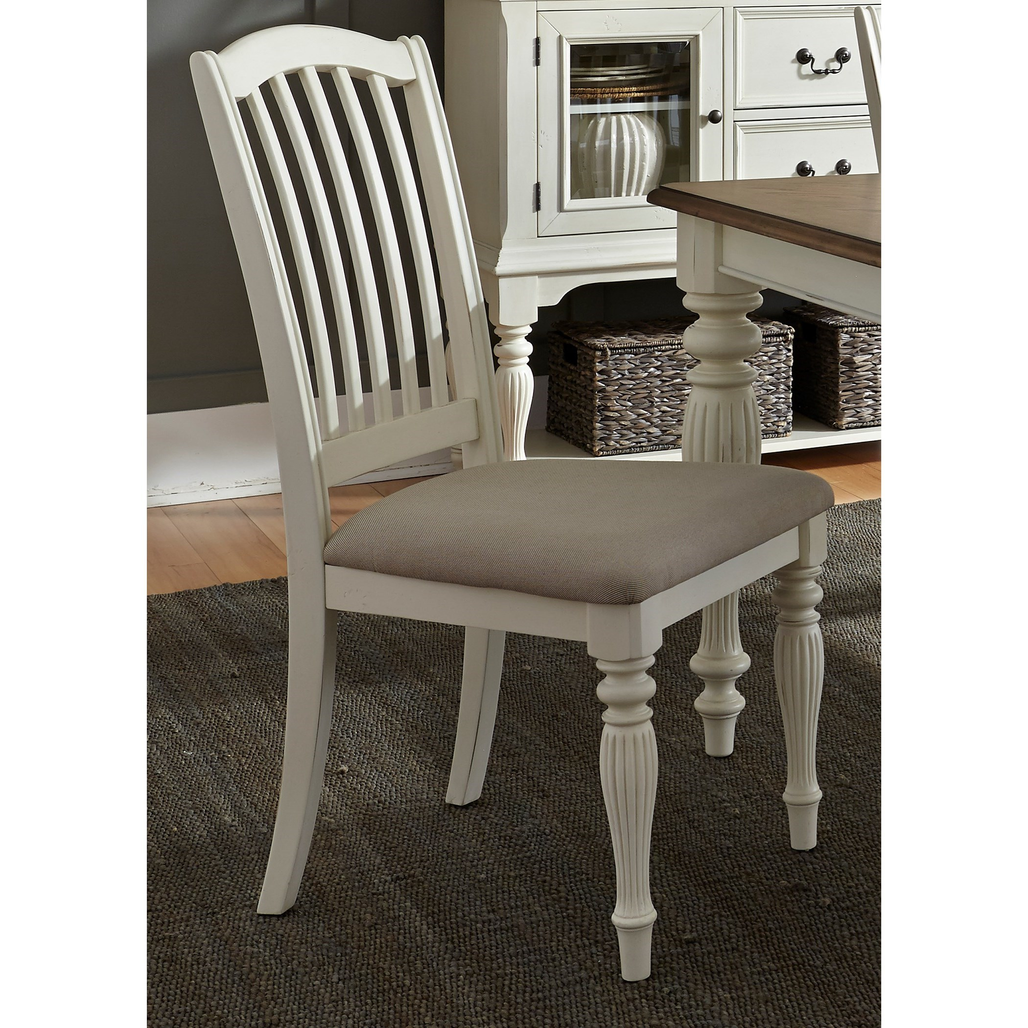Cumberland Creek Dining Slat Back Side Chair by Libby at Walker's Furniture