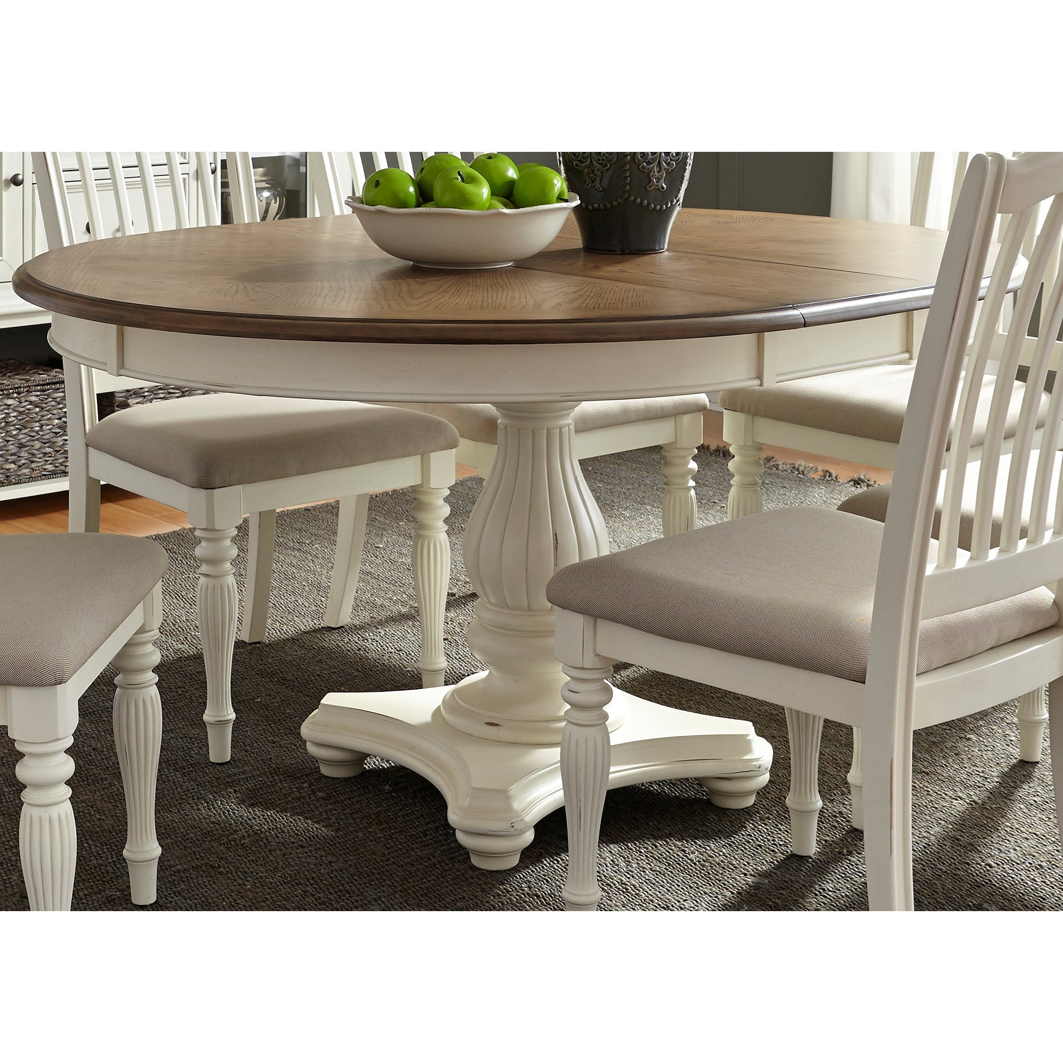 Cumberland Creek Dining Pedestal Table by Liberty Furniture at Northeast Factory Direct