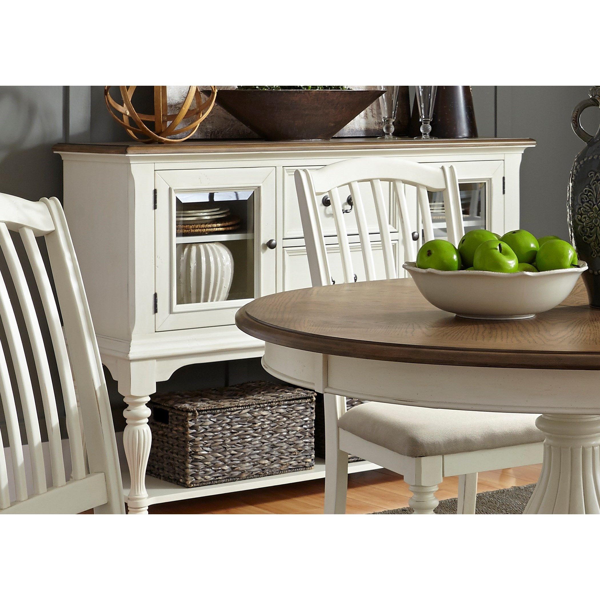 Cumberland Creek Dining Two Drawer Server by Libby at Walker's Furniture