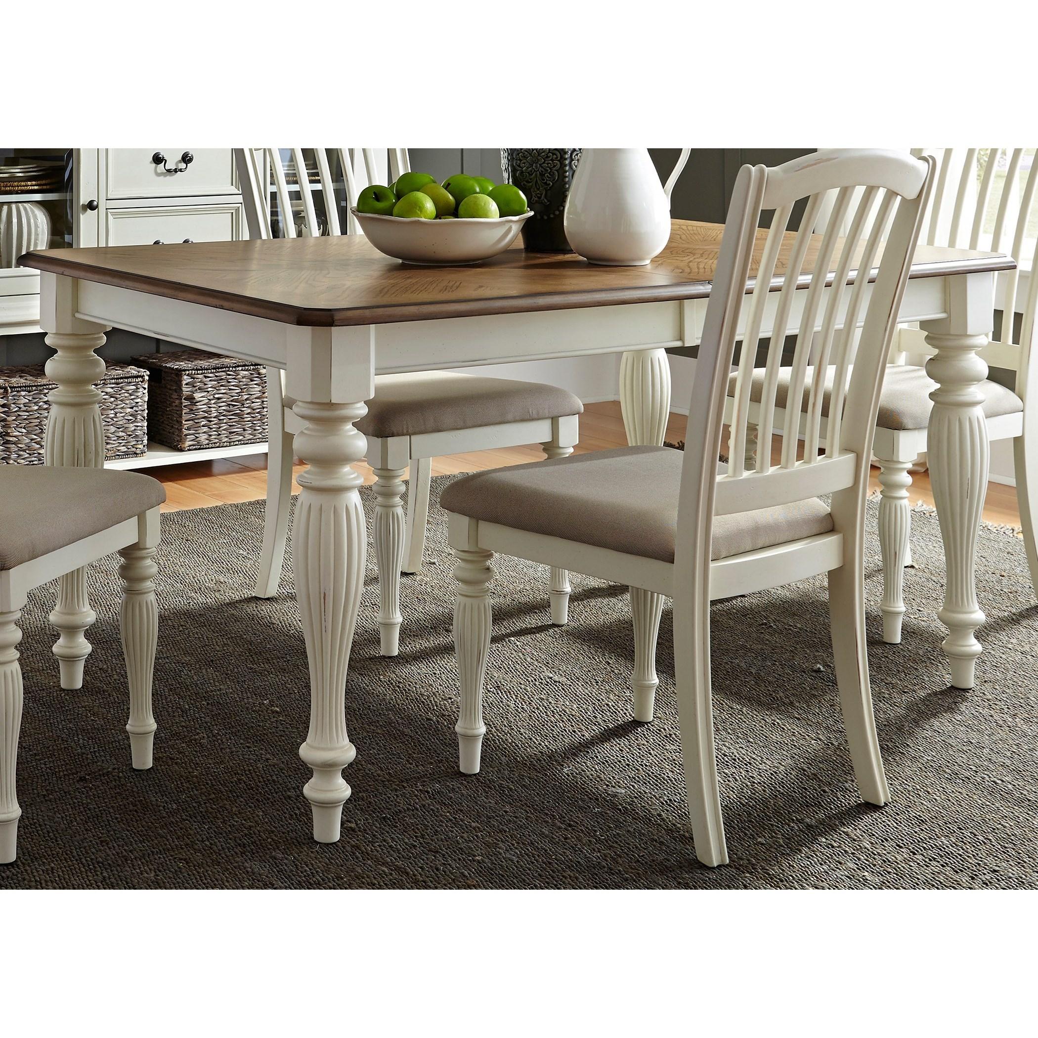 Cumberland Creek Dining Rectangular Leg Table by Liberty Furniture at Northeast Factory Direct