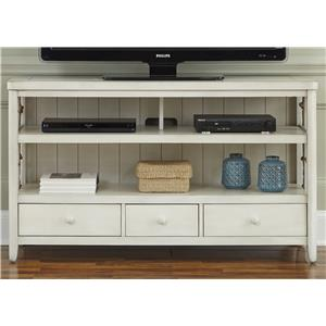 Coastal TV Console with Rope Accents