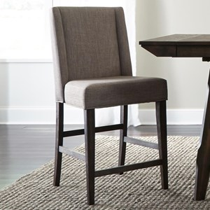 Contemporary Upholstered Counter Chair