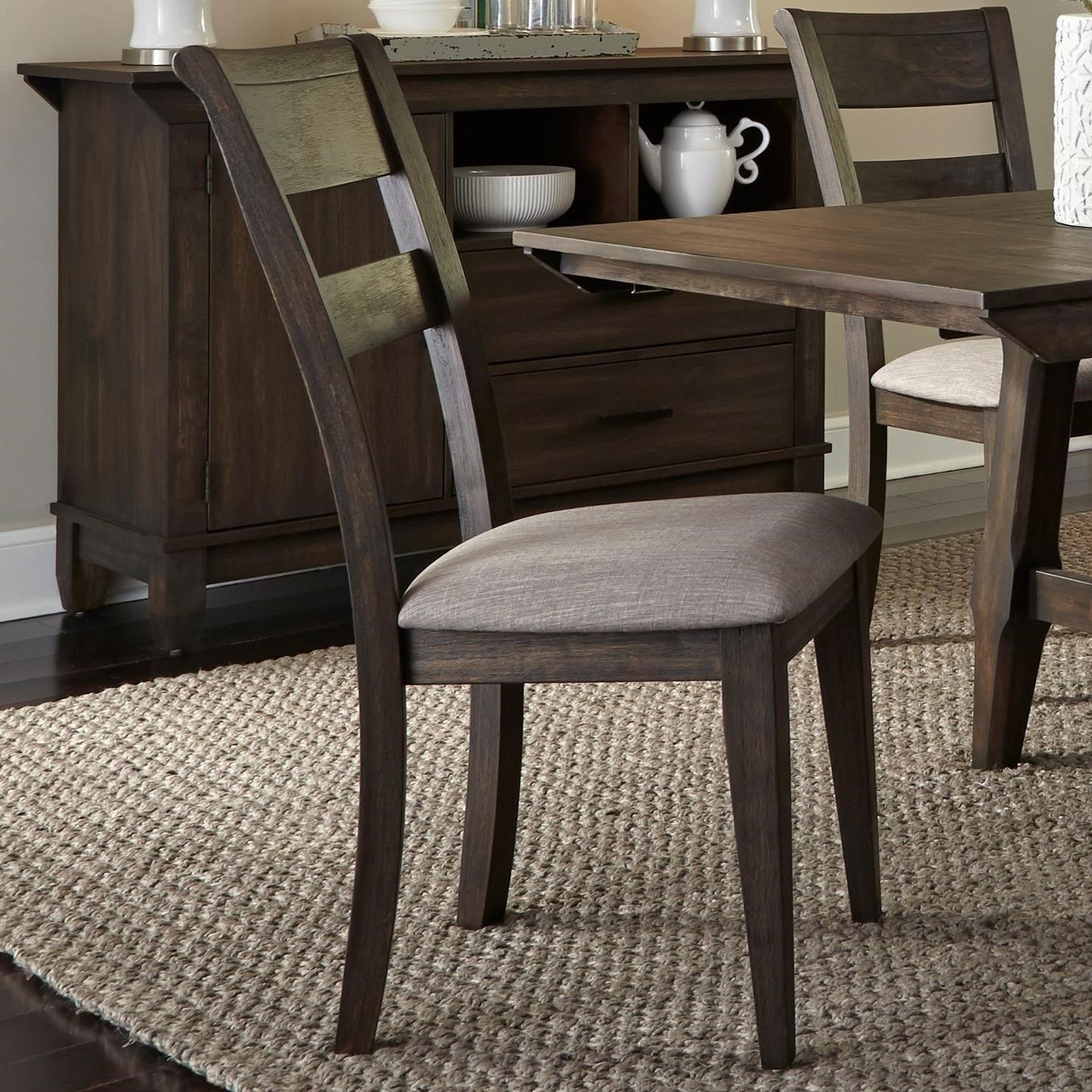 Double Bridge Splat Back Side Chair by Liberty Furniture at Lapeer Furniture & Mattress Center