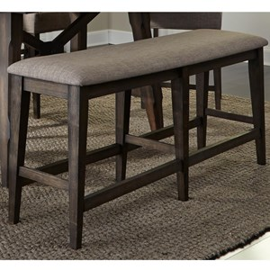 Contemporary Upholstered Counter Bench