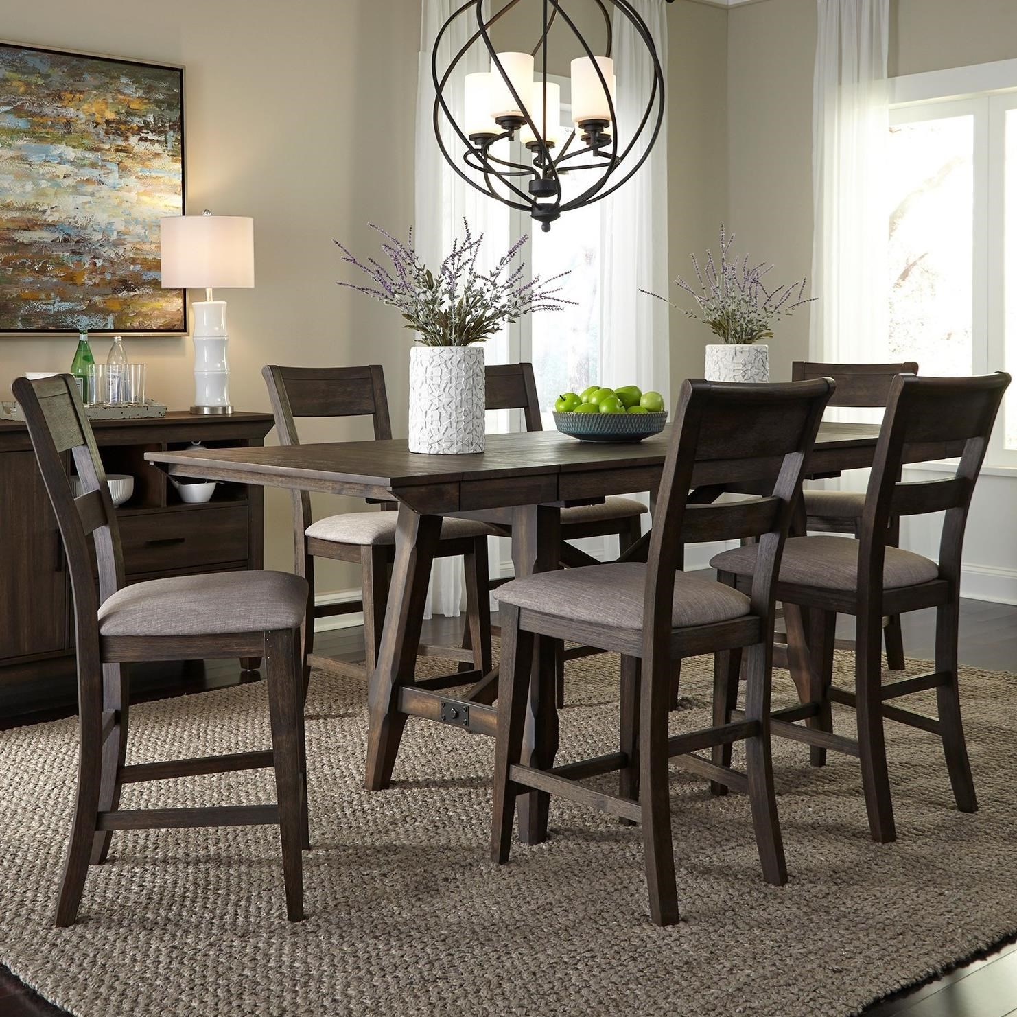 Double Bridge 7 Piece Gathering Table Set  by Liberty Furniture at Northeast Factory Direct