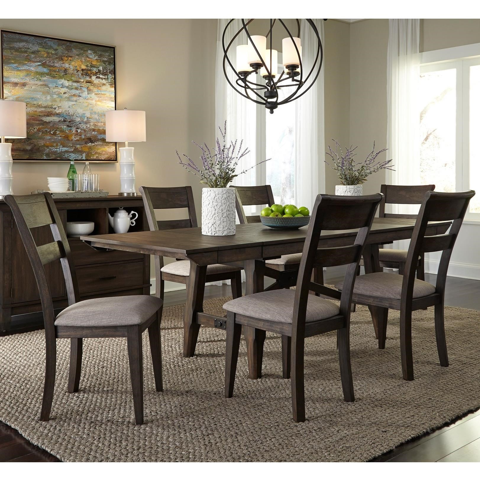 Denmark  7 Piece Trestle Table Set  by Freedom Furniture at Ruby Gordon Home