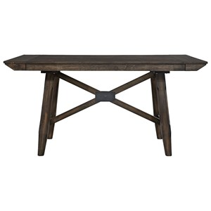 "Contemporary Gathering Table with Two 12"" Leaves"