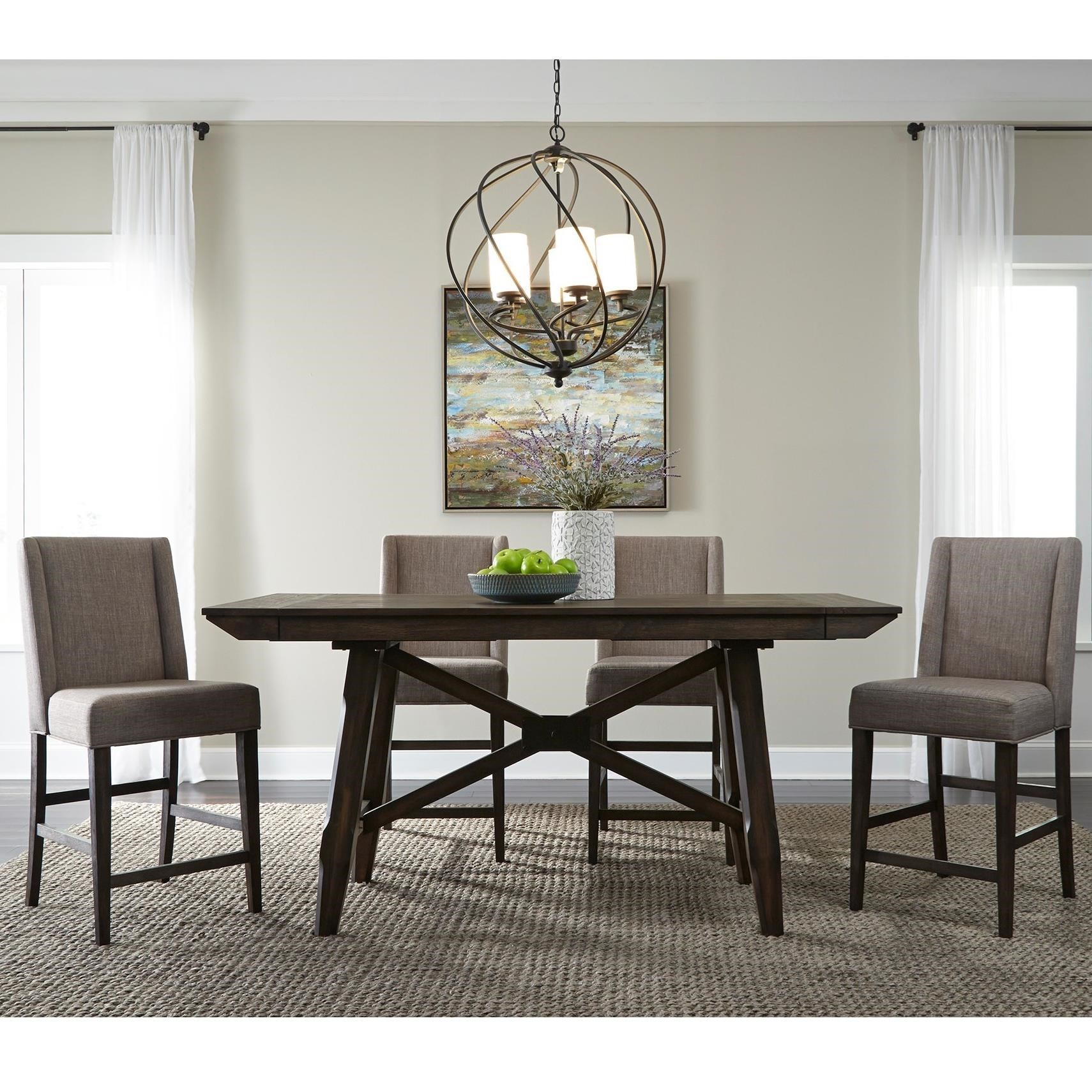 Double Bridge 5 Piece Gathering Table Set by Libby at Walker's Furniture