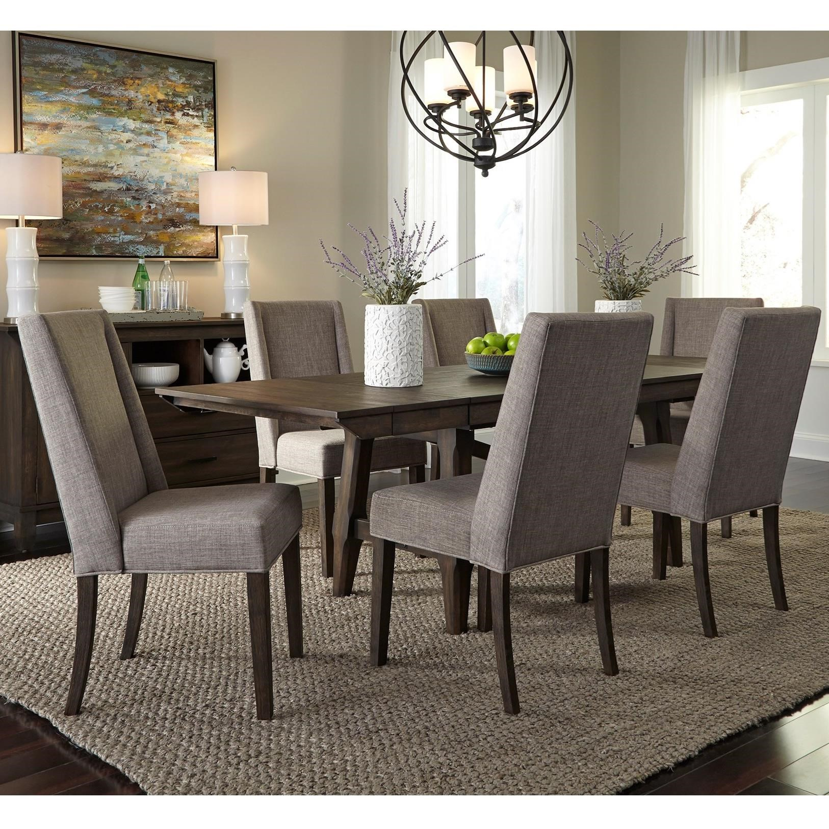 Double Bridge 7 Piece Trestle Table Set by Liberty Furniture at Northeast Factory Direct