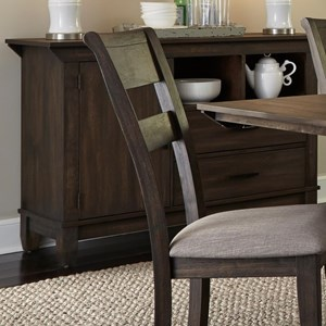 Contemporary Sideboard with Interior Adjustable Shelf