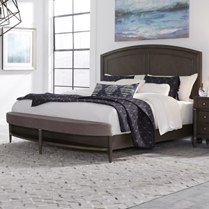 Transitional Queen Panel Bed with Bench Footboard