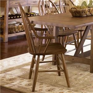 Liberty Furniture Farmhouse  Windsor Back Arm Chair