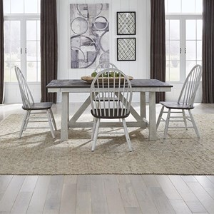 Optional 5-Piece Trestle Table Set