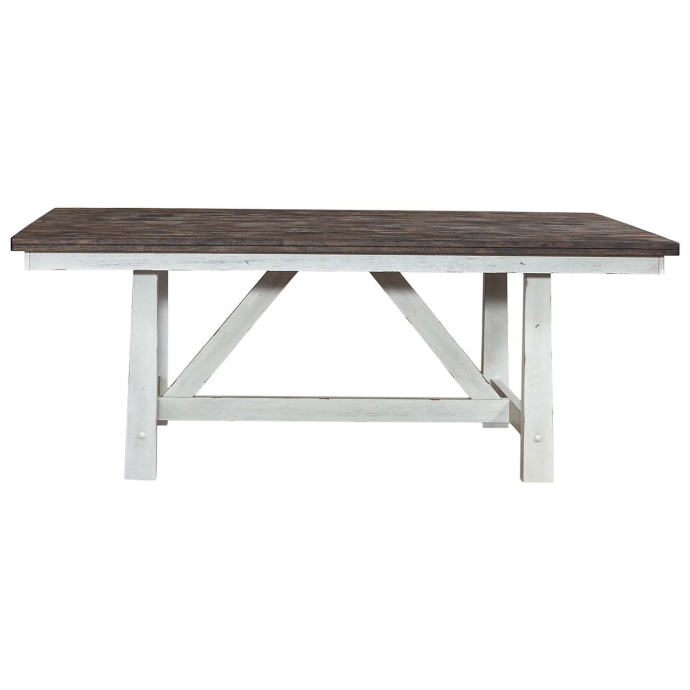 Farmhouse Fixed Top Trestle Table by Libby at Walker's Furniture