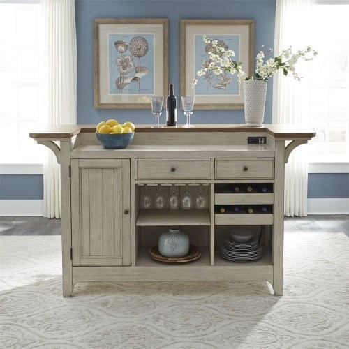 Farmhouse Reimagined Bar with Marble Top by Libby at Walker's Furniture