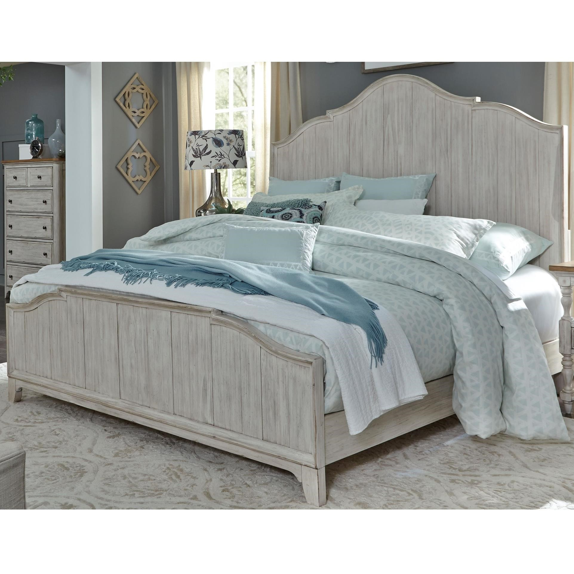 Farmhouse Reimagined King Panel Bed  by Liberty Furniture at Northeast Factory Direct