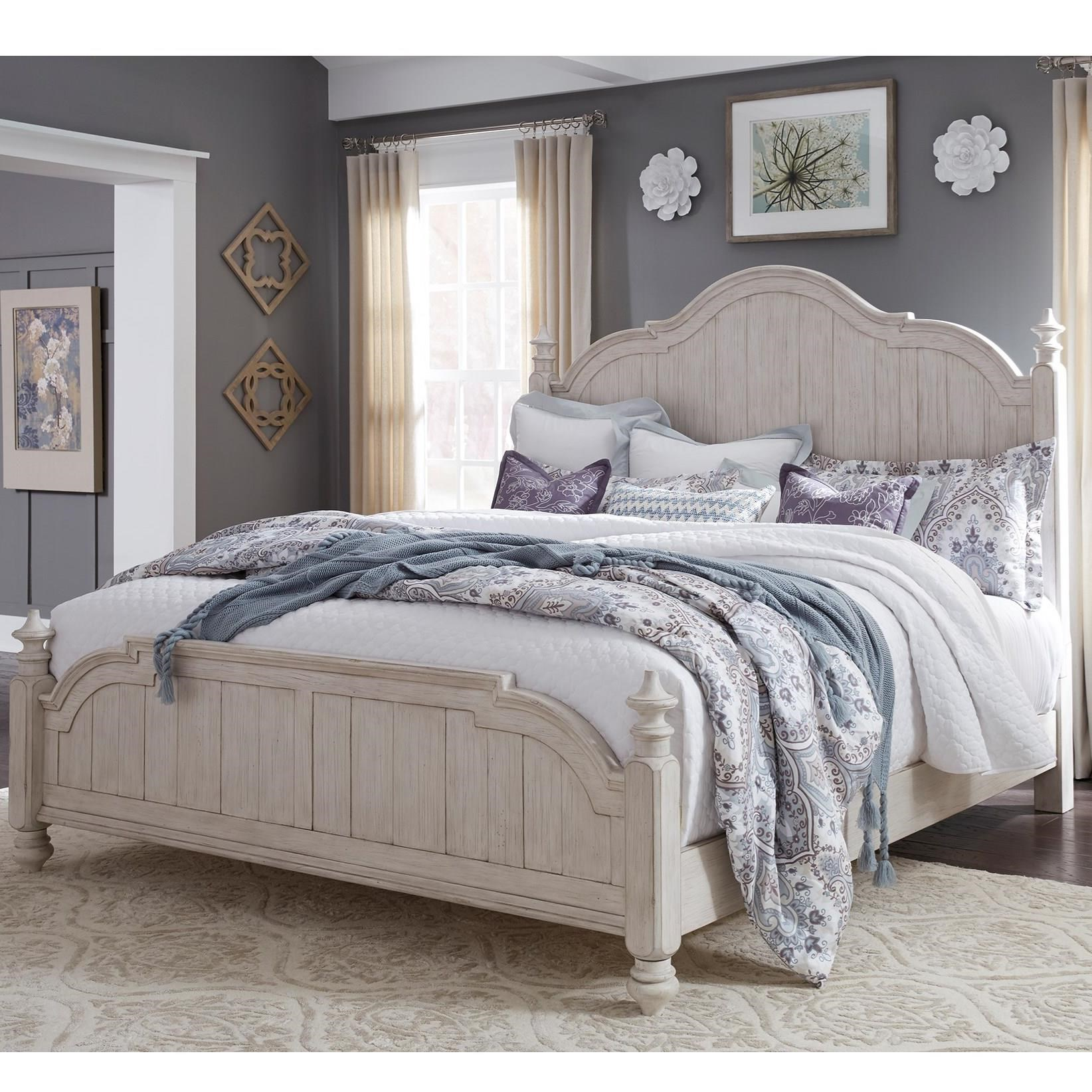 Farmhouse Reimagined King Poster Bed  by Libby at Walker's Furniture