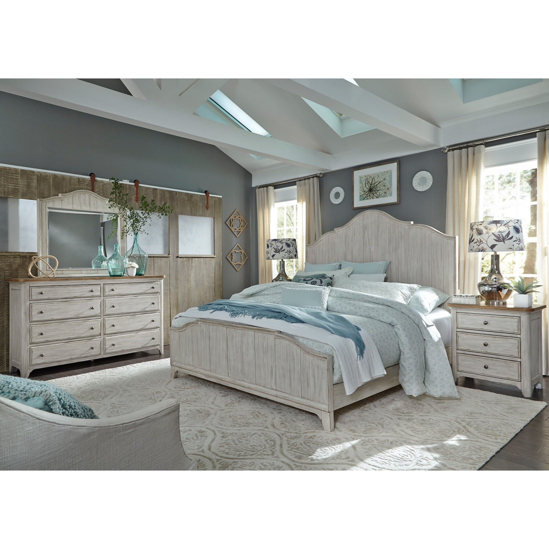 Farmhouse Reimagined Queen Bedroom Group by Liberty Furniture at A1 Furniture & Mattress