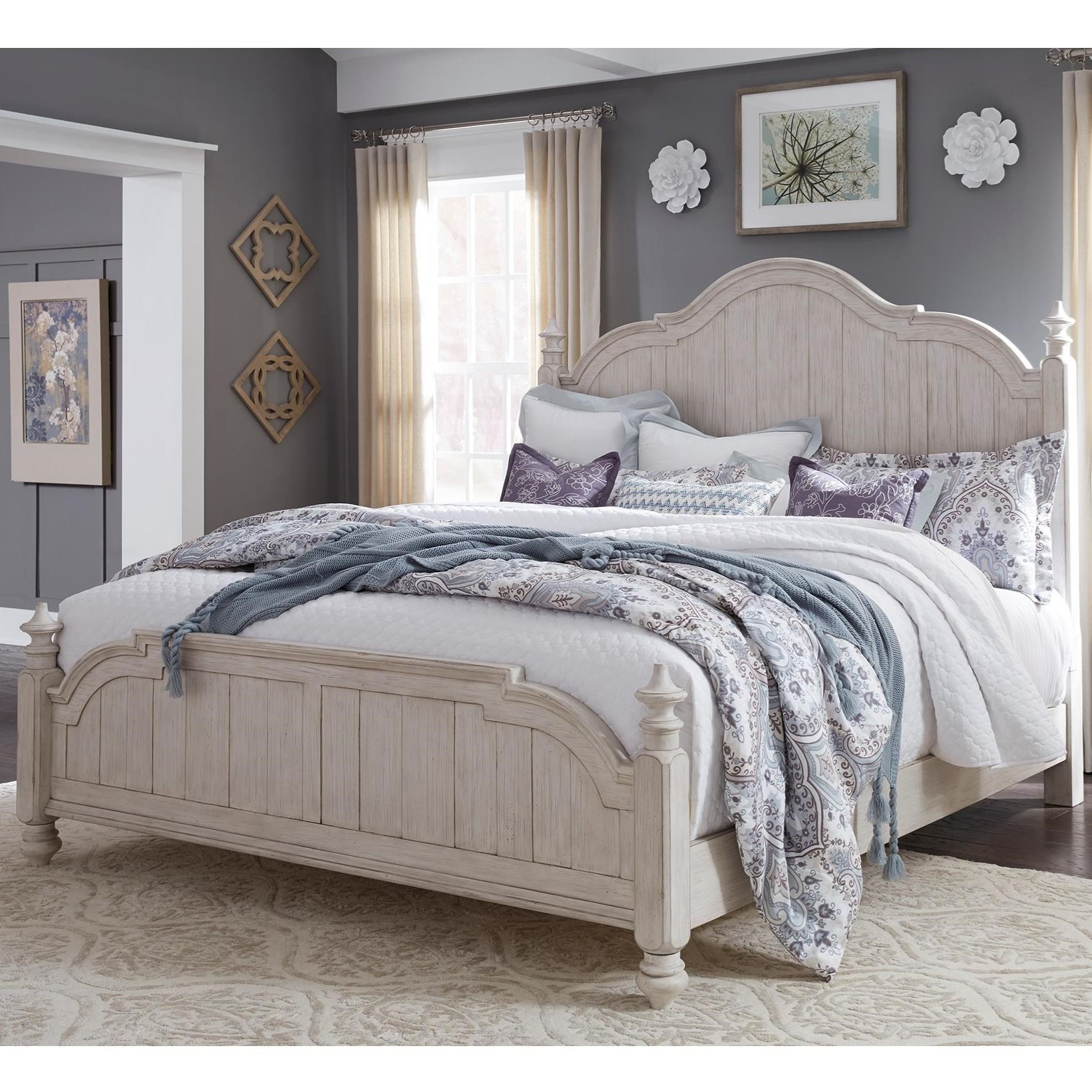 Farmhouse Reimagined Queen Poster Bed  by Libby at Walker's Furniture