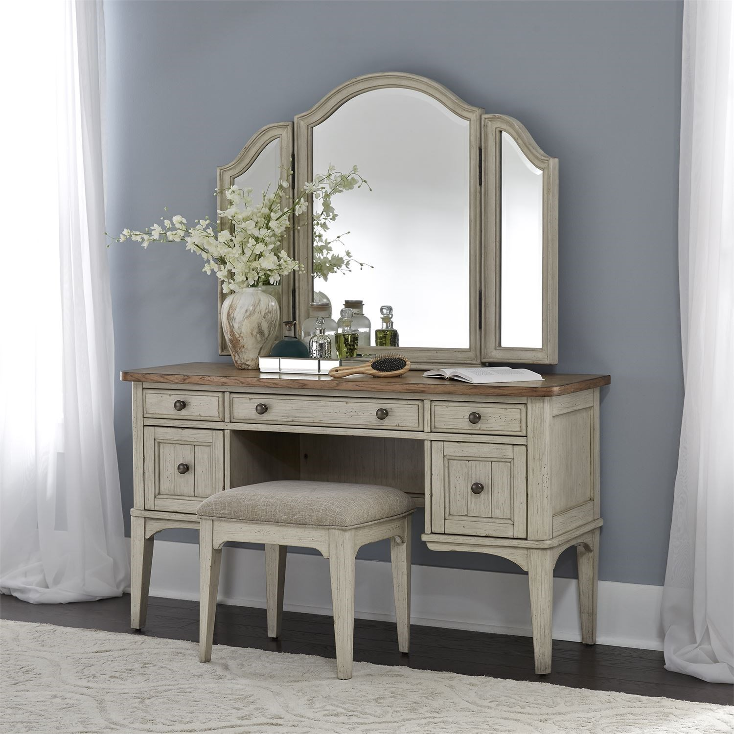 Farmhouse Reimagined Vanity Set by Liberty Furniture at Northeast Factory Direct