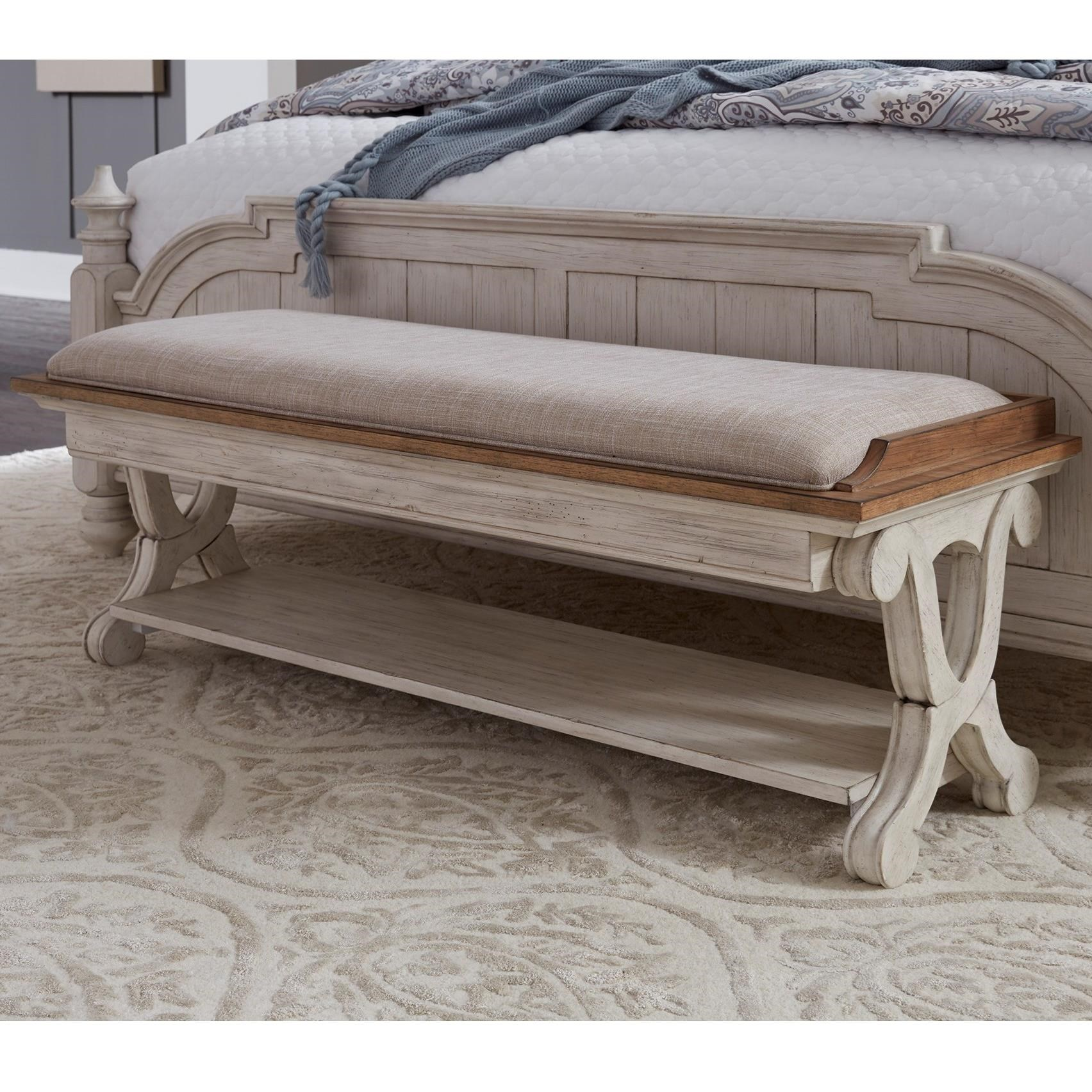Farmhouse Reimagined Bed Bench by Liberty Furniture at Lapeer Furniture & Mattress Center