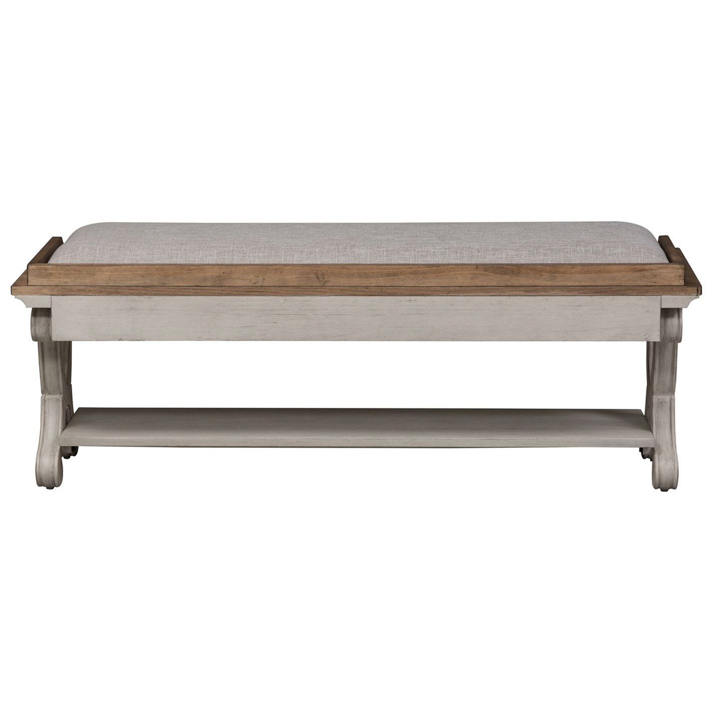 Farmhouse Reimagined Bed Bench by Liberty Furniture at Darvin Furniture