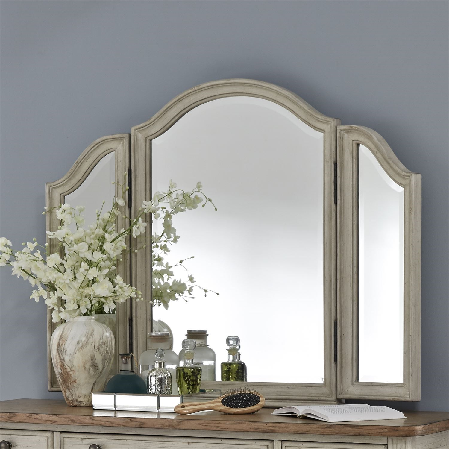 Farmhouse Reimagined Vanity Mirror by Libby at Walker's Furniture