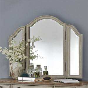 Relaxed Vintage Trifold Vanity Mirror