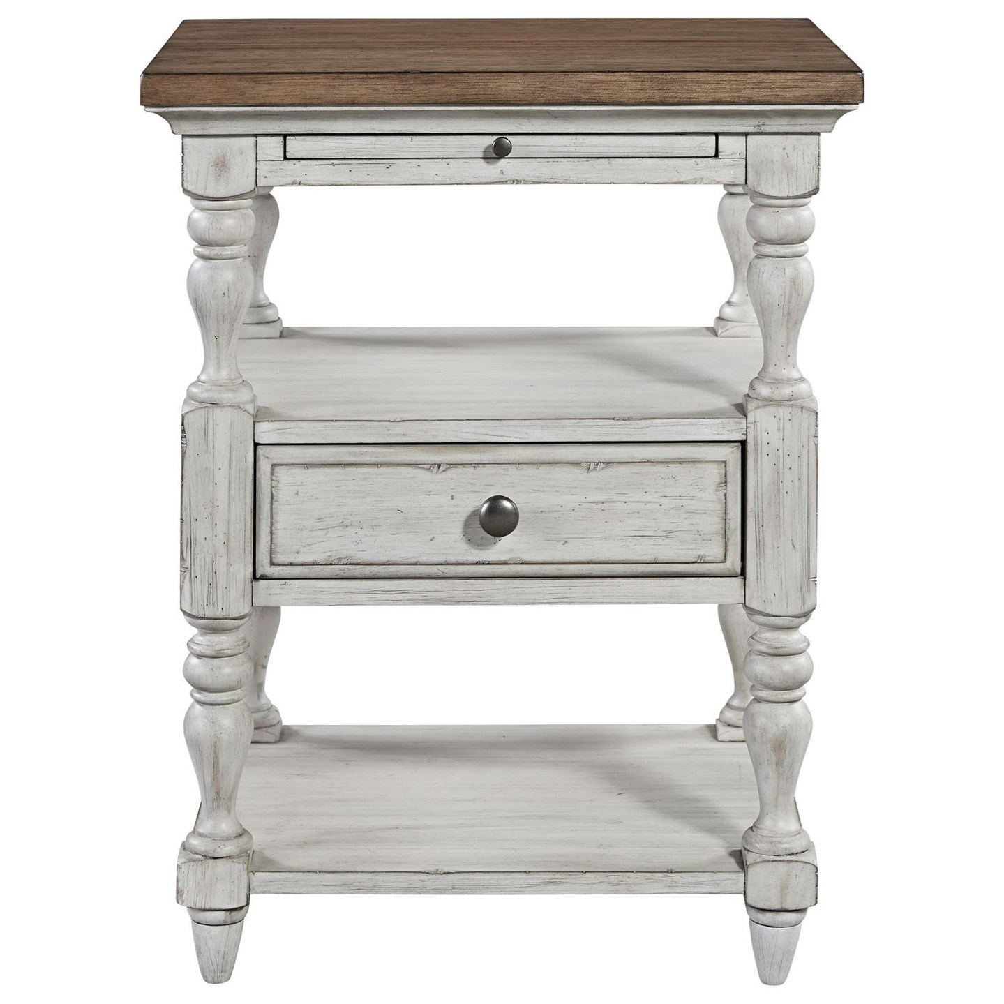 Farmhouse Reimagined 1 Drawer Night Stand by Libby at Walker's Furniture