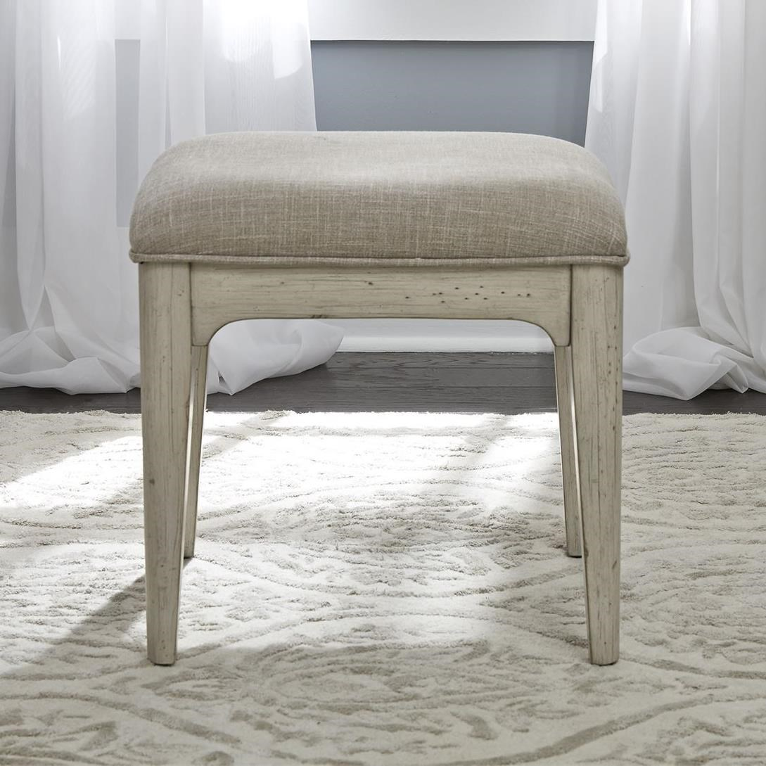 Farmhouse Reimagined Vanity Stool by Liberty Furniture at Northeast Factory Direct