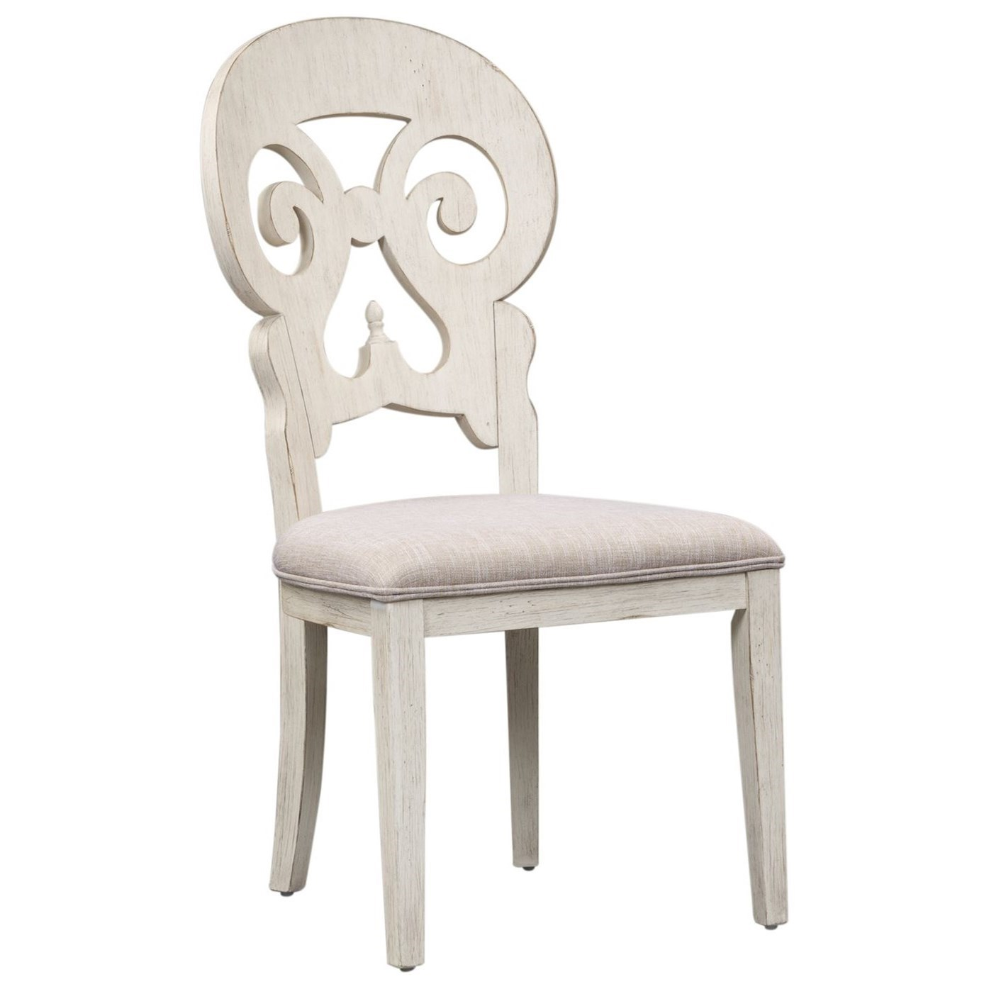 Farmhouse Reimagined Splat Back Side Chair by Liberty Furniture at Northeast Factory Direct