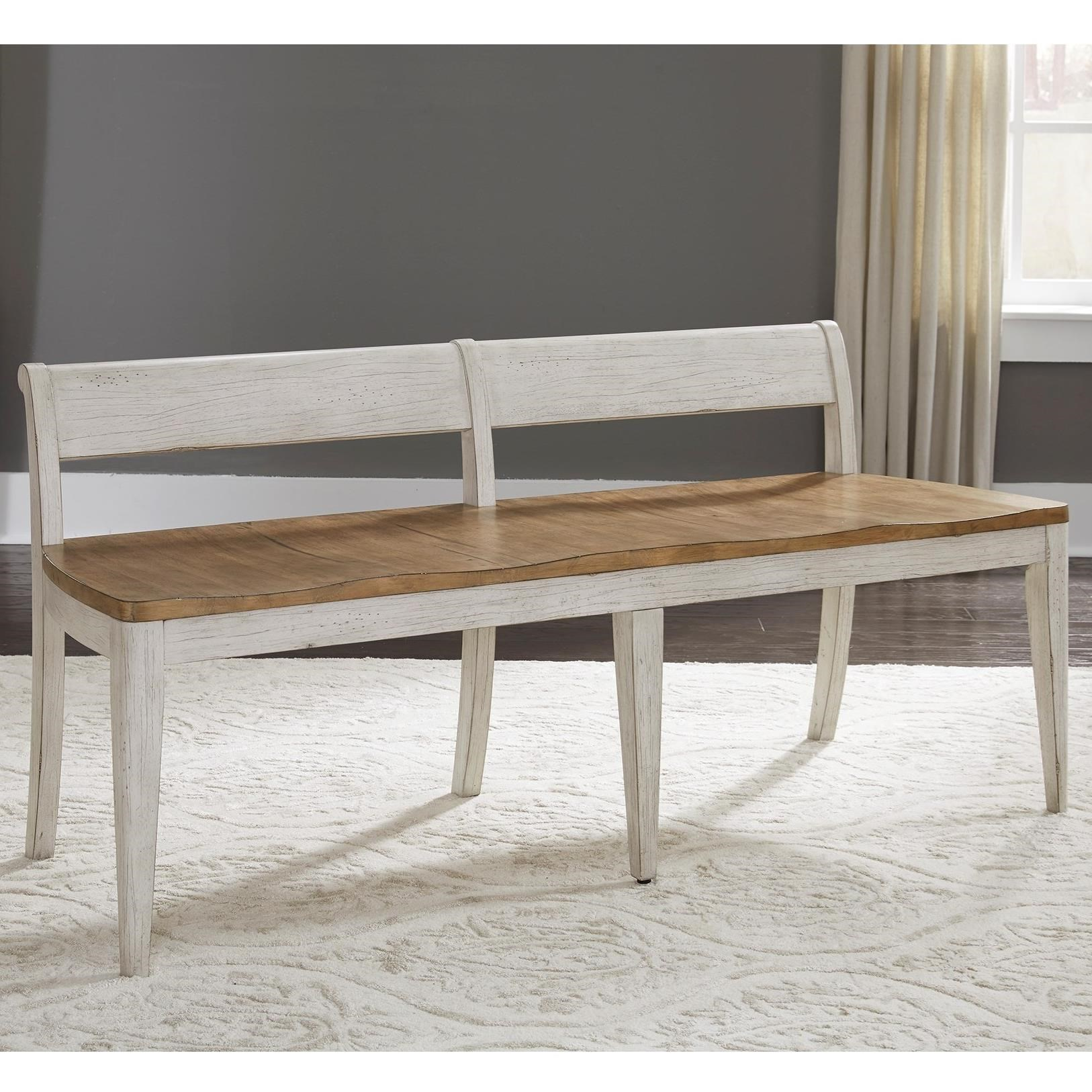 Farmhouse Reimagined Dining Bench by Liberty Furniture at Lynn's Furniture & Mattress
