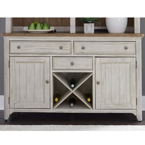Relaxed Vintage Buffet with Removable Wine Storage Planks