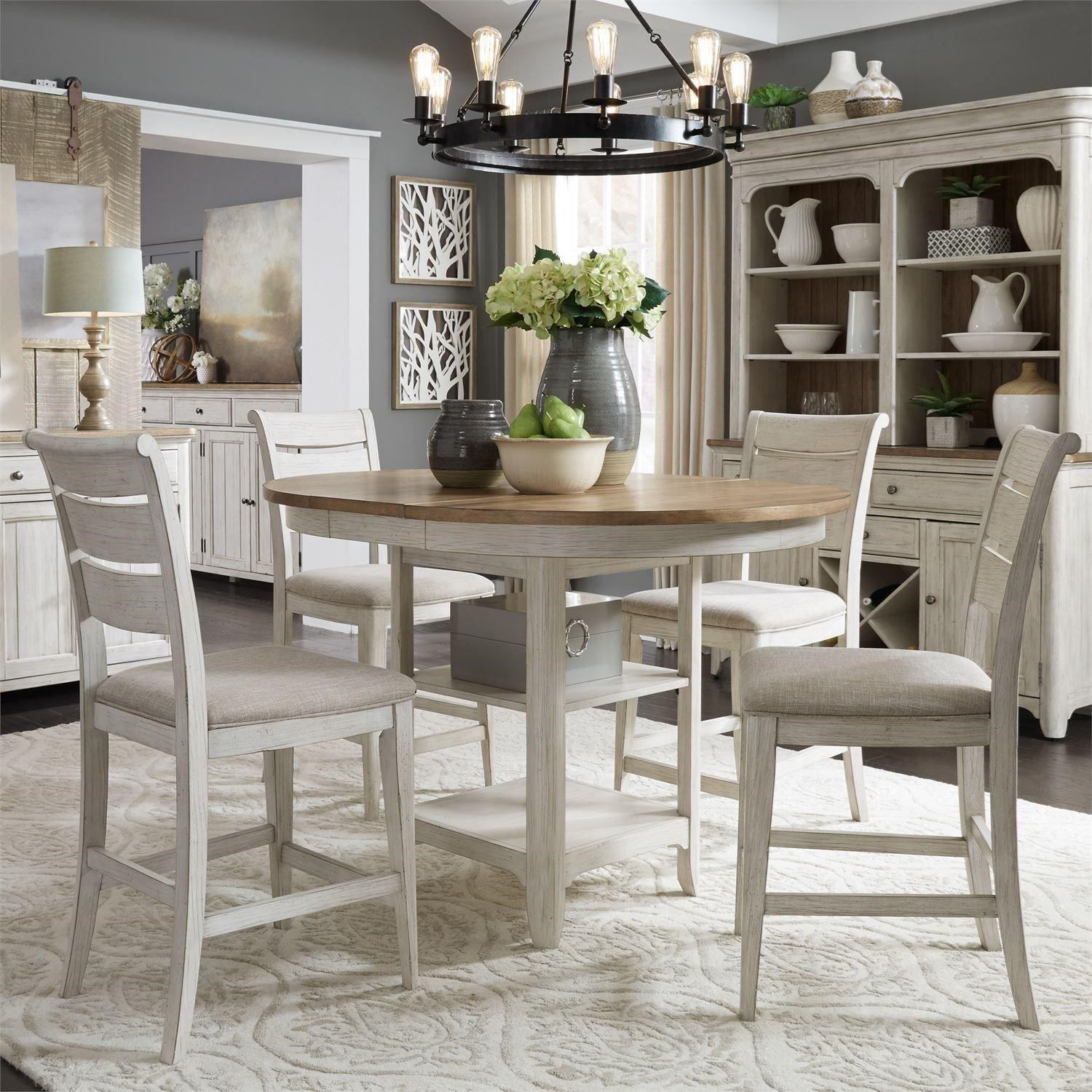 Farmhouse Reimagined 5 Piece Gathering Table Set  by Liberty Furniture at Steger's Furniture