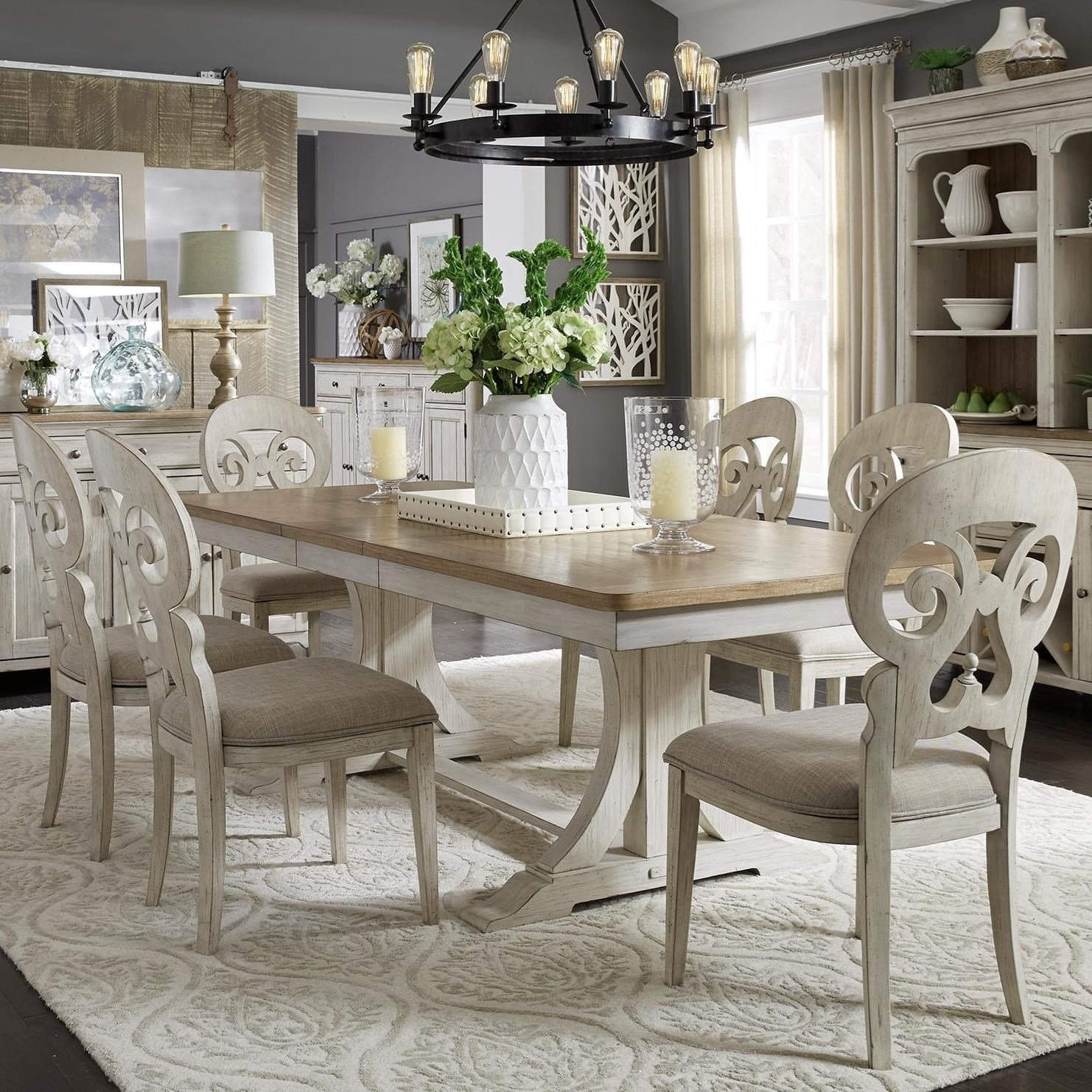 Farmhouse Reimagined 7-Piece Table and Chair Set by Liberty Furniture at Zak's Home