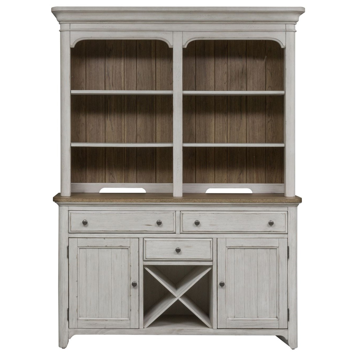 Farmhouse Reimagined Hutch & Buffet  by Liberty Furniture at Furniture and ApplianceMart