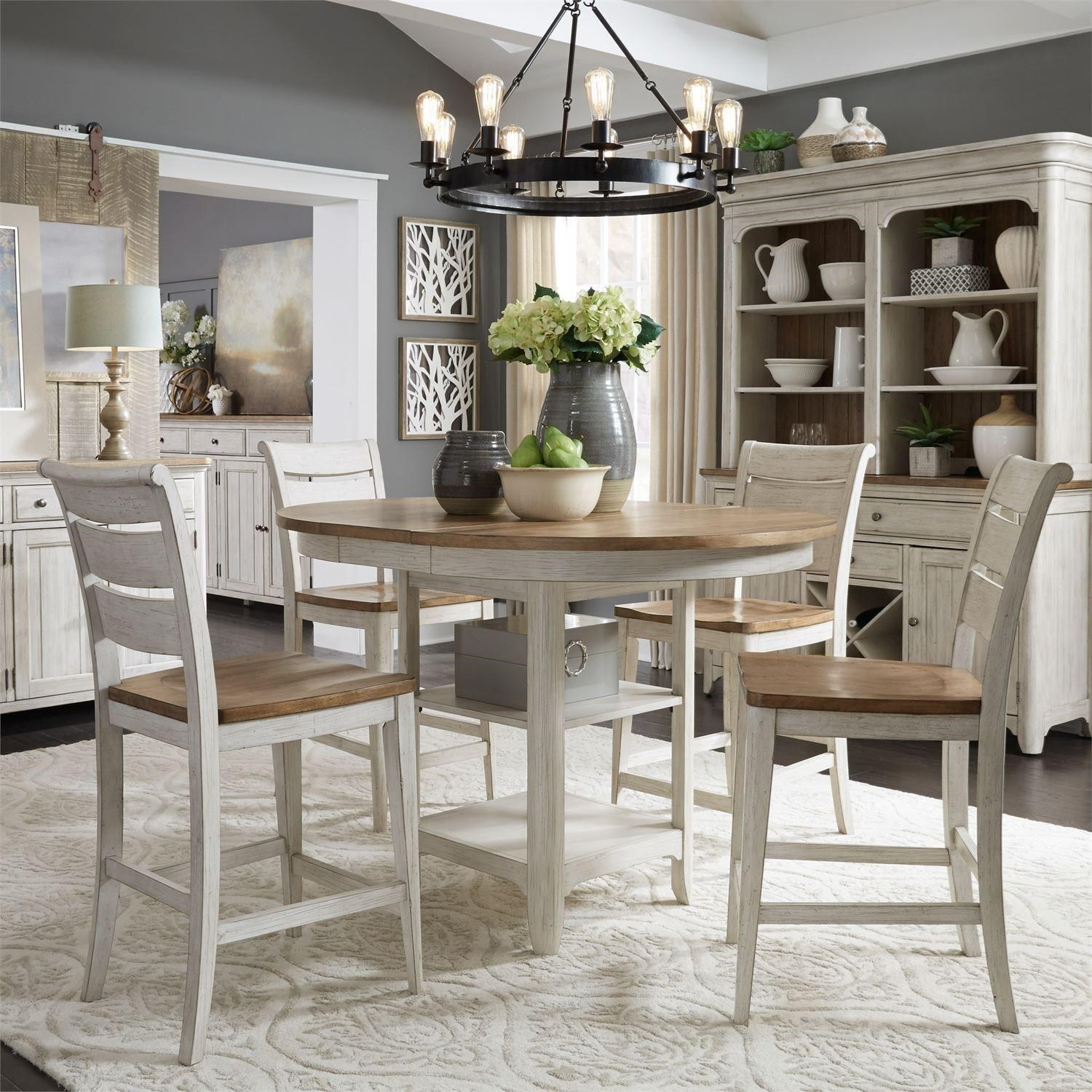 Farmhouse Reimagined 5 Piece Gathering Table Set  by Liberty Furniture at Dinette Depot
