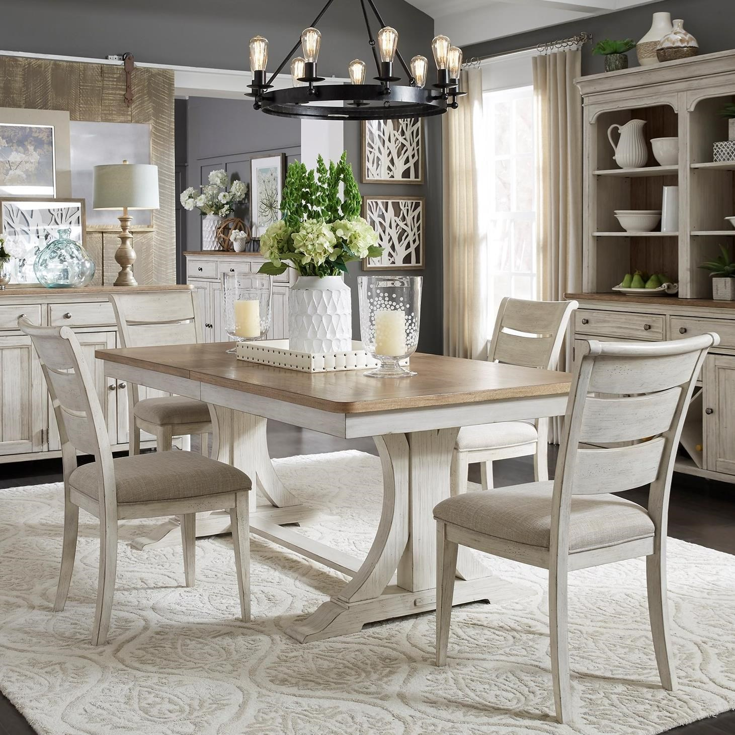 Farmhouse Reimagined 5-Piece Table and Chair Set  by Liberty Furniture at Northeast Factory Direct