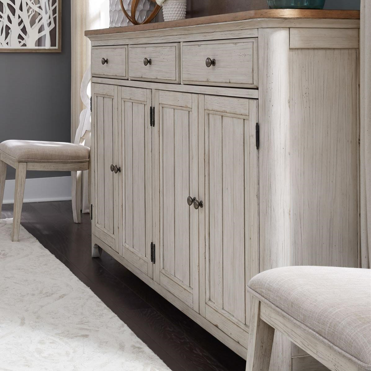 Farmhouse Reimagined Hall Buffet by Libby at Walker's Furniture