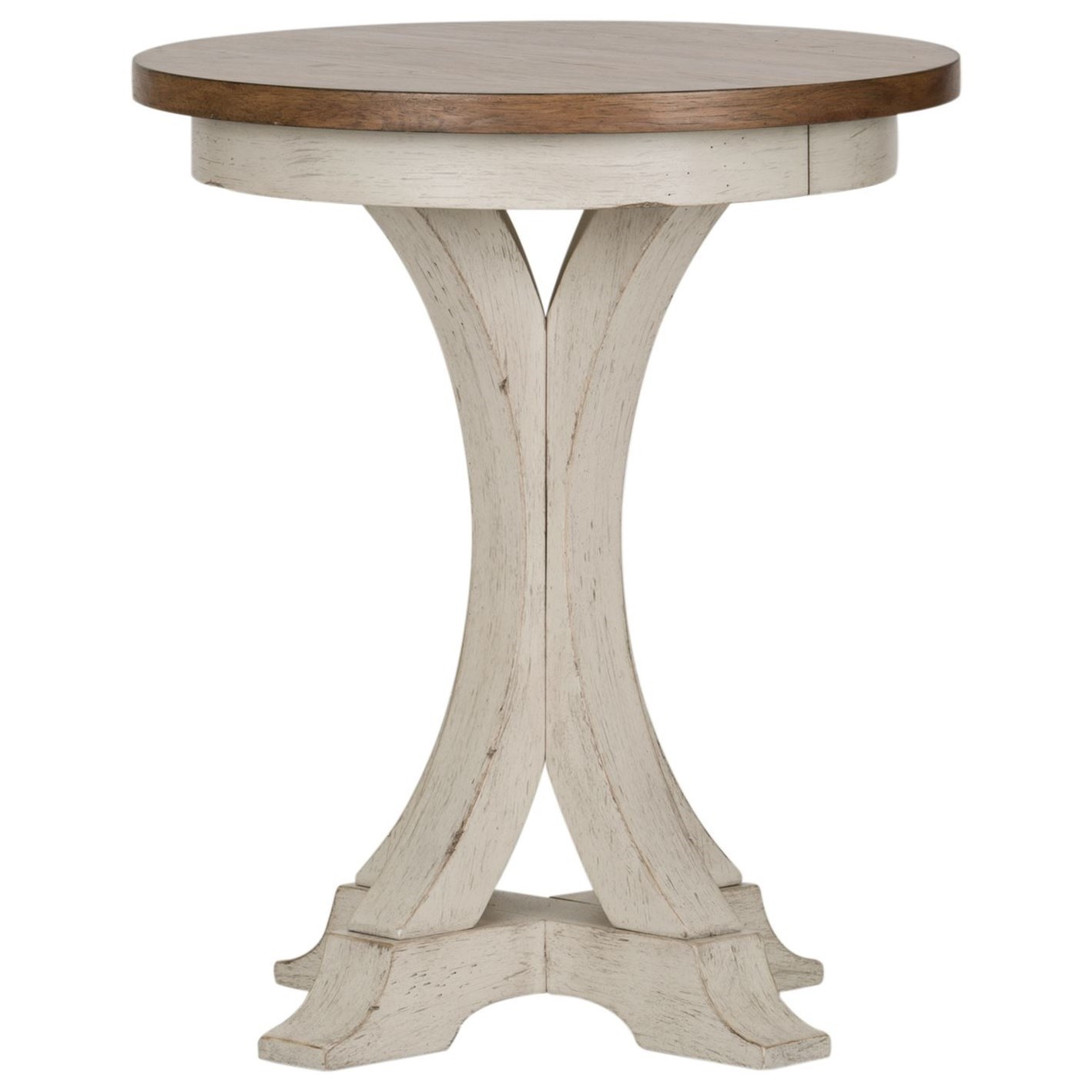 Farmhouse Reimagined Chair Side Table by Libby at Walker's Furniture
