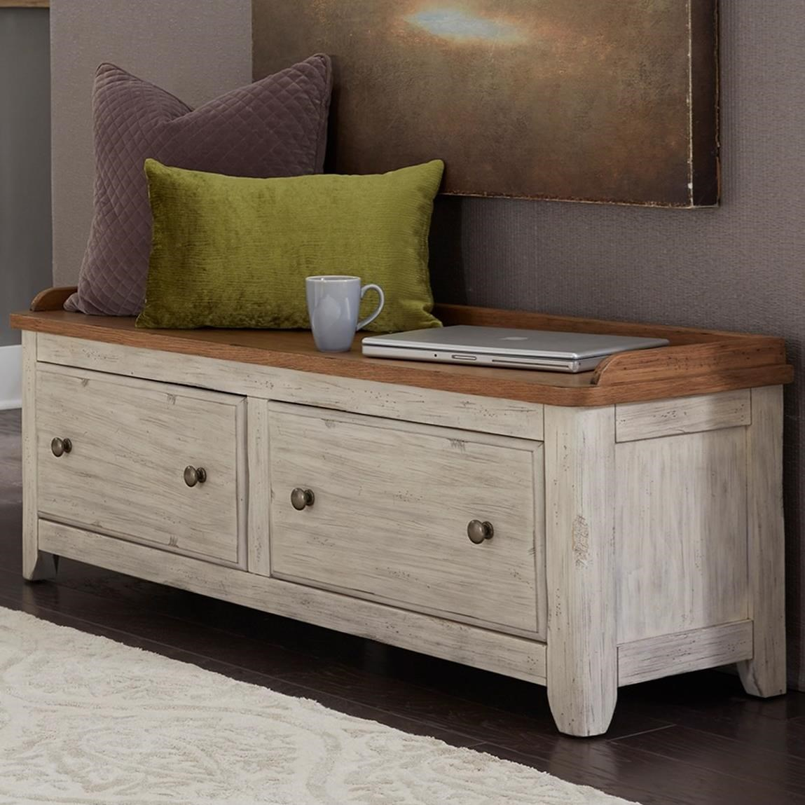 Farmhouse Reimagined Bench by Liberty Furniture at Lapeer Furniture & Mattress Center