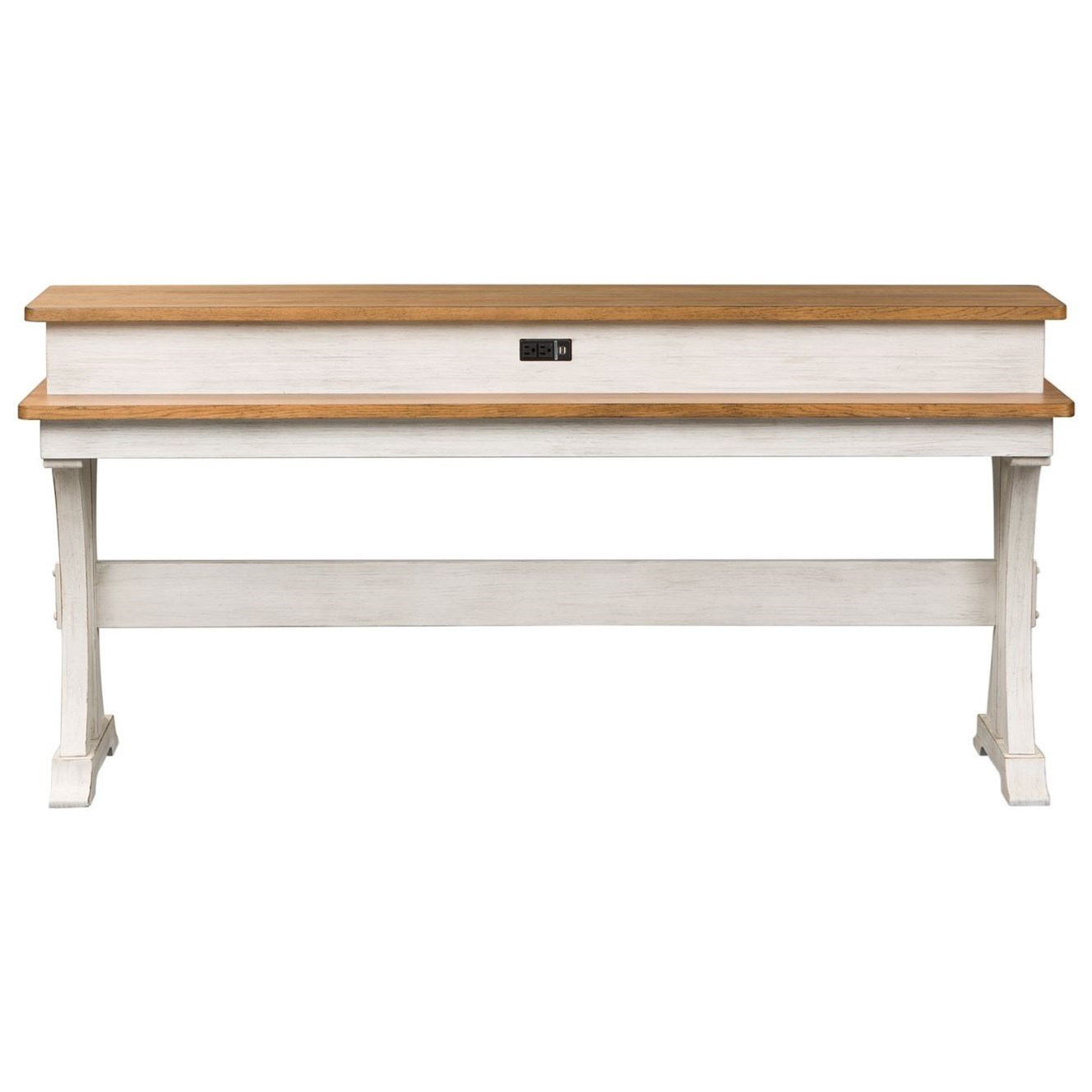 Farmhouse Reimagined Console Bar Table by Libby at Walker's Furniture