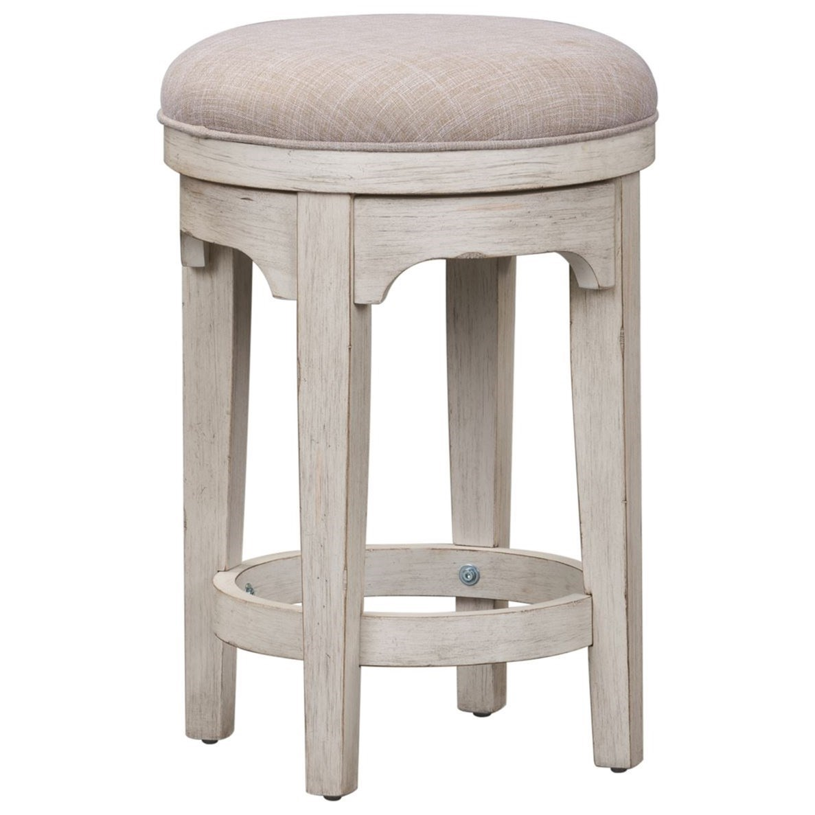 Farmhouse Reimagined Console Swivel Stool by Libby at Walker's Furniture