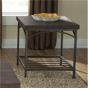 End Table with Metal Base