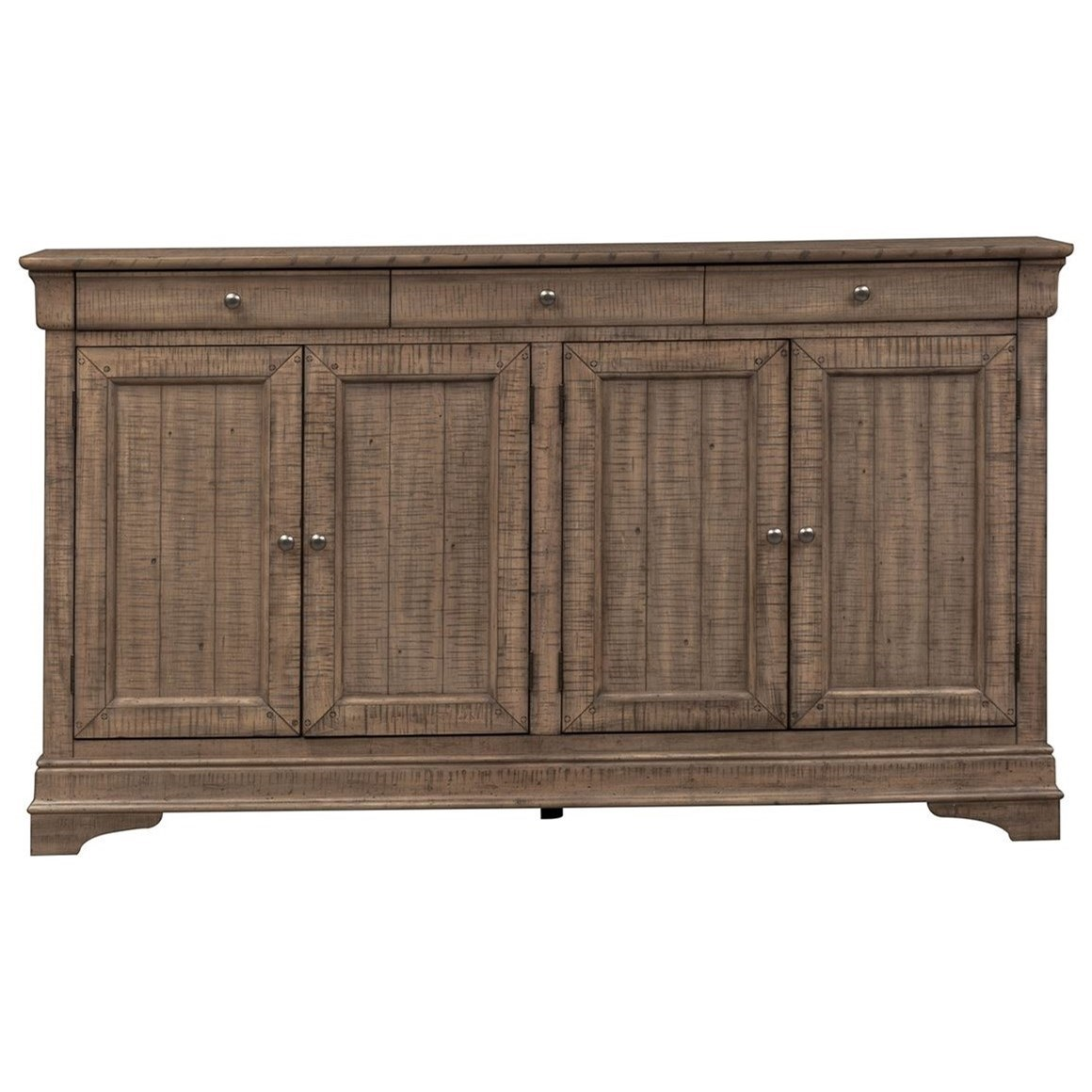 Gentry 4 Door Accent Cabinet by Libby at Walker's Furniture