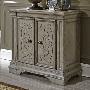 Traditional 2 Door Nightstand with Built In Charging Station