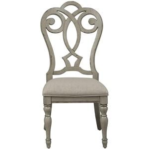Splat Back Upholstered Side Chair